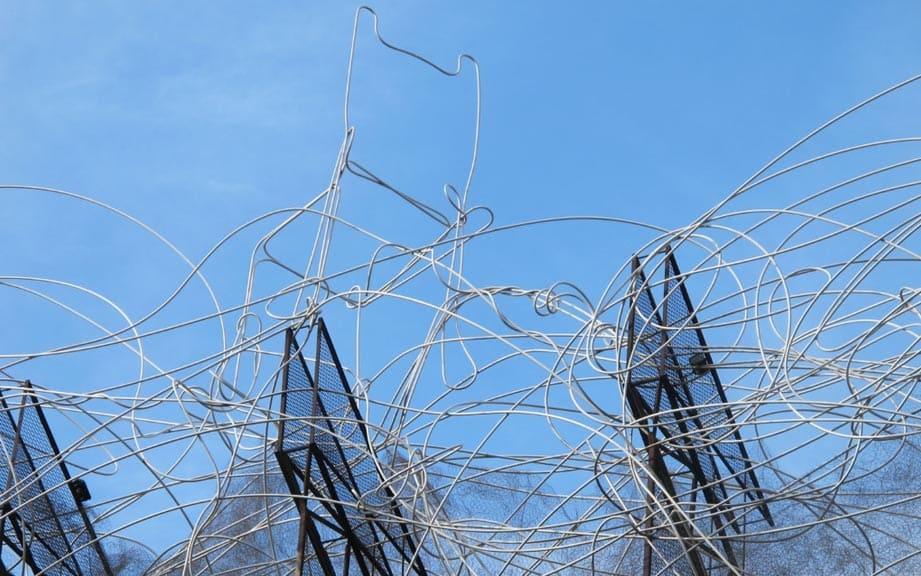 Фонд Антони Тапиеса в Барселоне: скульптура «Носок»